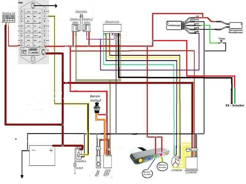 Atemberaubend Motorrad Schaltplan Fotos - Elektrische Schaltplan ...