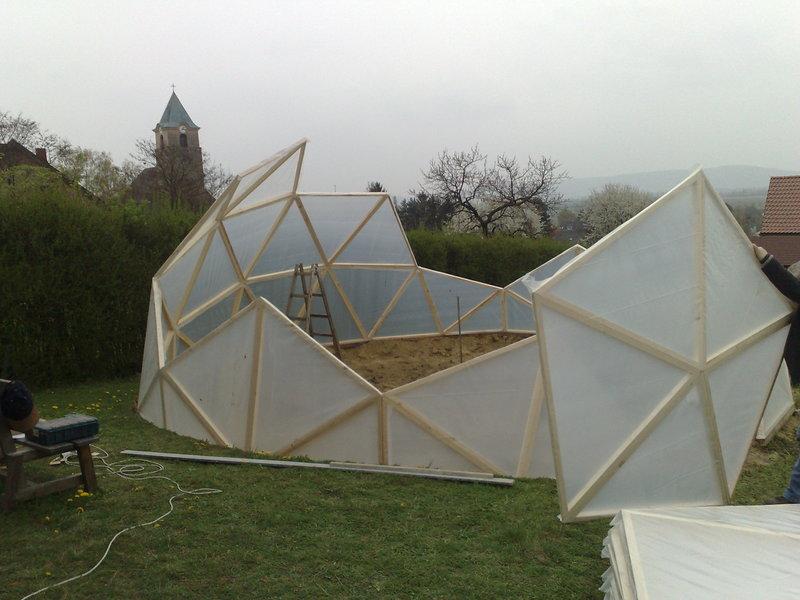 Geodätische Kuppel Selber Bauen gewächshaus geodätische kuppel