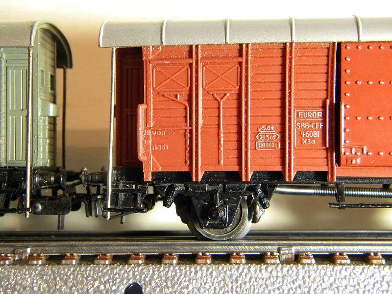 Gedeckter Güterwagen mit Bremserhaus K3 der SBB, Märklin #4605 10222055hl