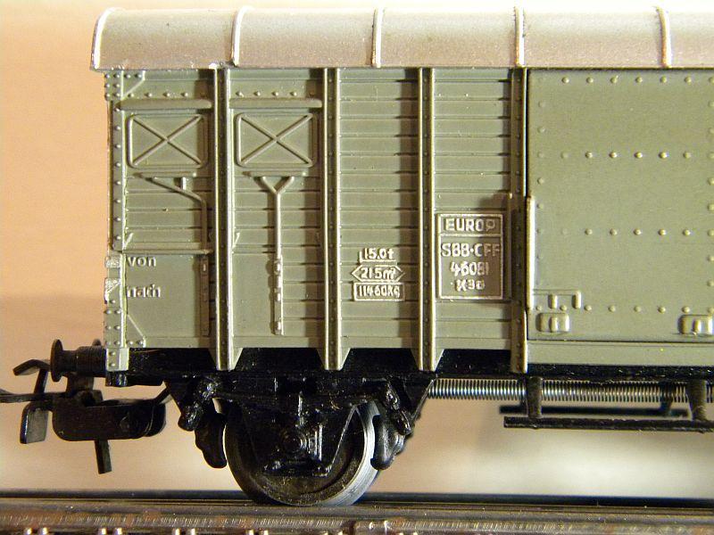 Gedeckter Güterwagen mit Bremserhaus K3 der SBB, Märklin #4605 10222058sd