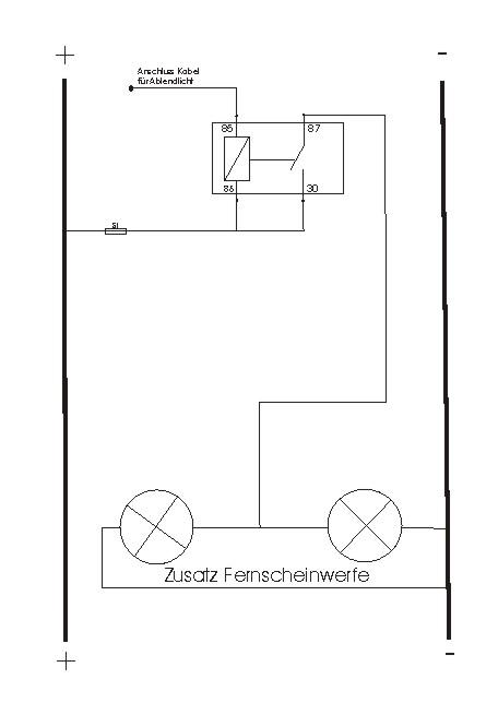 Zusatzfernscheinwerfer anschließen [Archiv] - Suzuki Jimny Forum