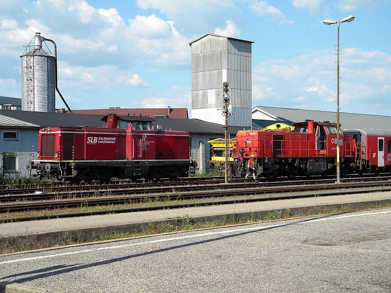 Bahnhof Braunau am Inn: Gleisgroßbaustelle 10607882kj