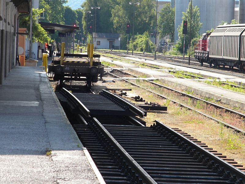 Bahnhof Braunau am Inn: Gleisgroßbaustelle 10608017lk