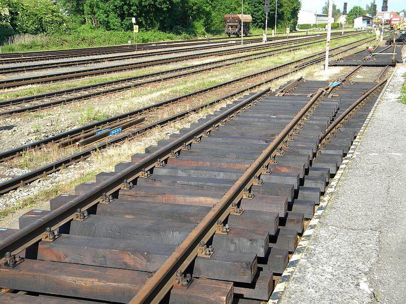 Bahnhof Braunau am Inn: Gleisgroßbaustelle 10608018nn