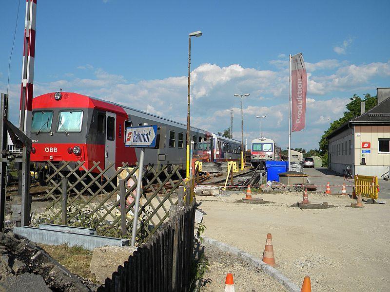 Bahnhof Braunau am Inn: Gleisgroßbaustelle 10608068xk