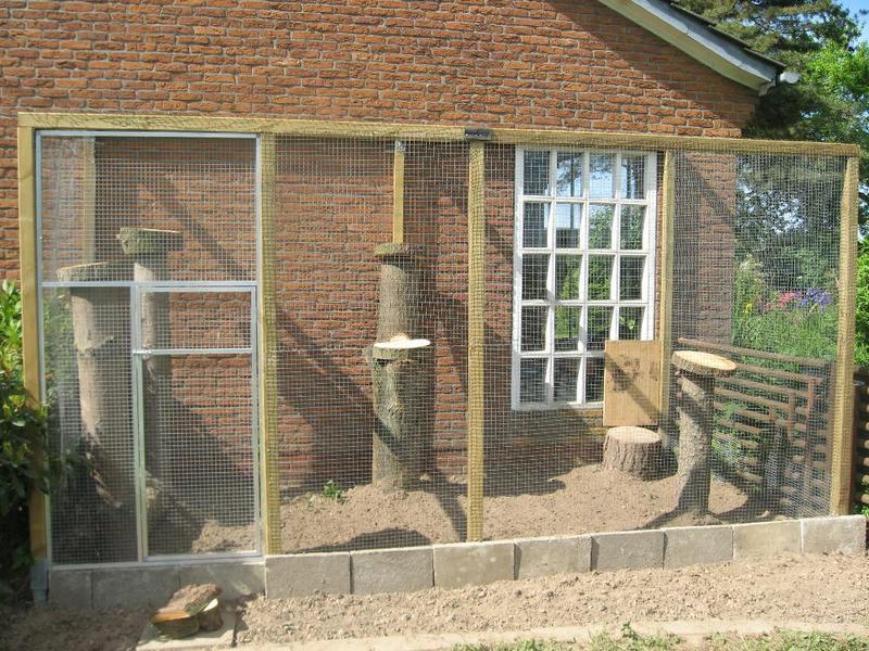 katzengehege selber bauen ein freistehendes katzengehege katzennetze nrw der katzennetz profi. Black Bedroom Furniture Sets. Home Design Ideas