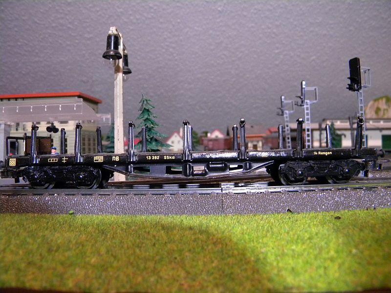 Märklin 4516 / Märklin 392C: Rungenwagen, schwarz 10628516es