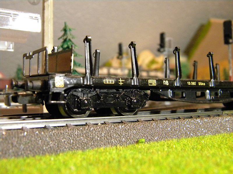 Märklin 4516 / Märklin 392C: Rungenwagen, schwarz 10628518jm