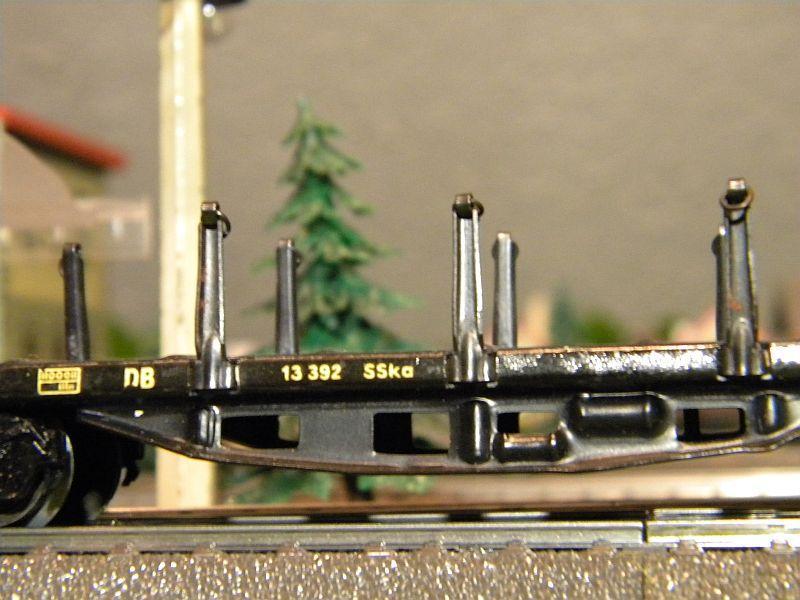Märklin 4516 / Märklin 392C: Rungenwagen, schwarz 10628523gj