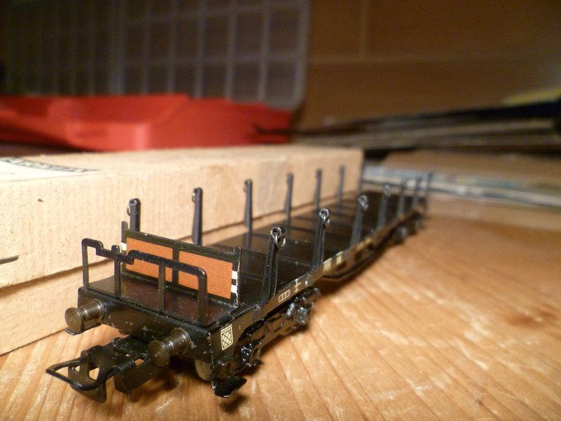 Märklin 4516 / Märklin 392C: Rungenwagen, schwarz 10631359ss