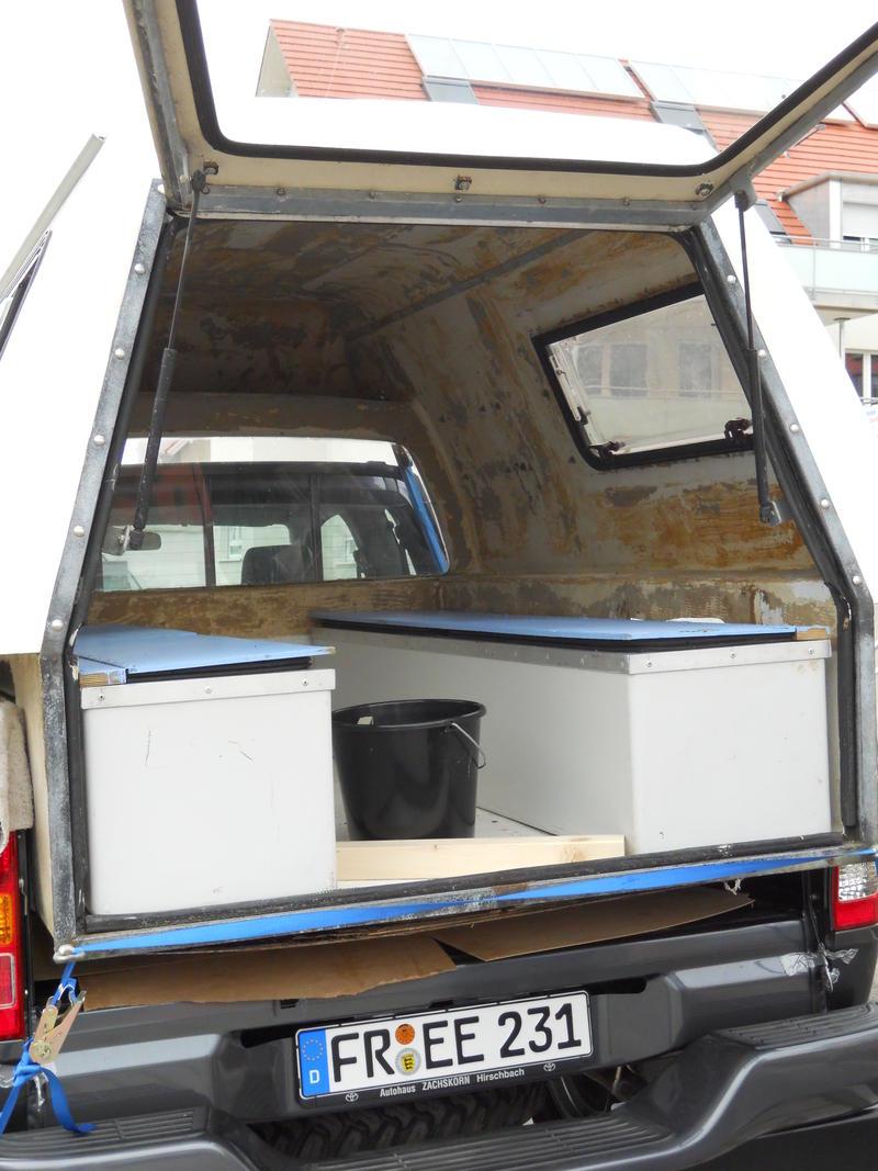 metamorphose vom pickup zum fernreisetraum. Black Bedroom Furniture Sets. Home Design Ideas