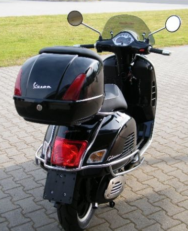 topcase vespa gts125 300 crome gep cktr ger r ckenlehne. Black Bedroom Furniture Sets. Home Design Ideas