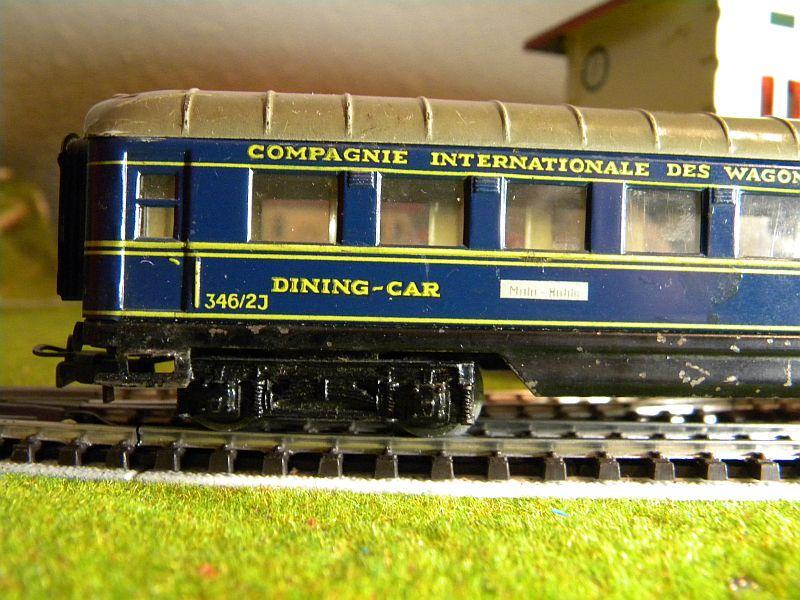 Speisewagen (Schürzenwagen), dunkelblau: Märklin-Nummer 346/2J bzw. 4009 10715394da