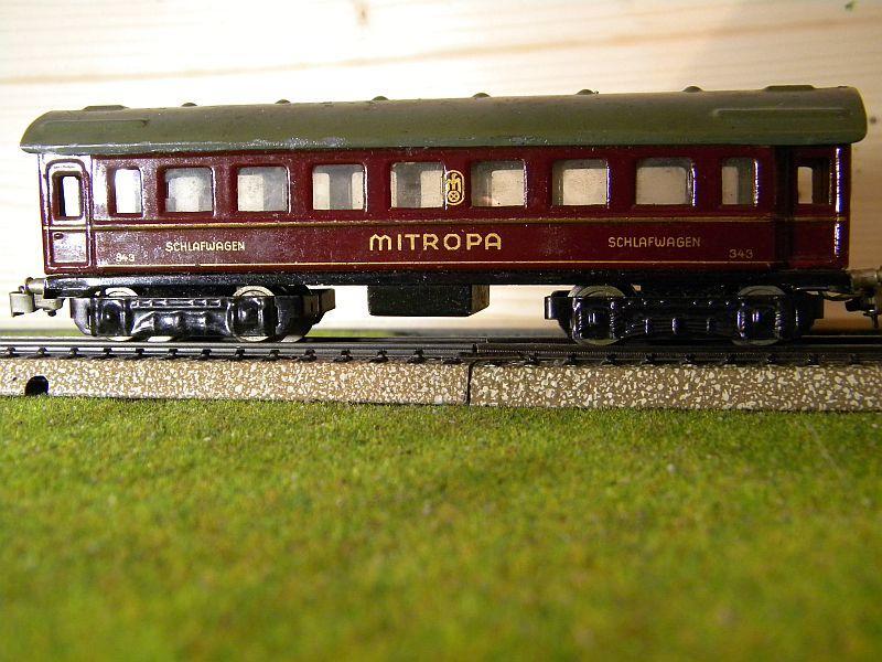 """Schlafwagen """"MITROPA"""", weinrot; Märklin-Nummer 343-3 (1937) 10725803pd"""