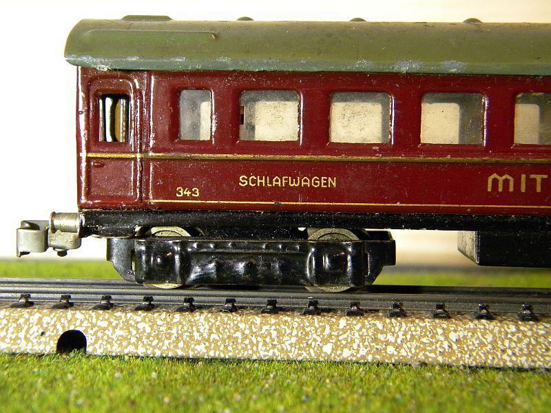"""Schlafwagen """"MITROPA"""", weinrot; Märklin-Nummer 343-3 (1937) 10725805vl"""