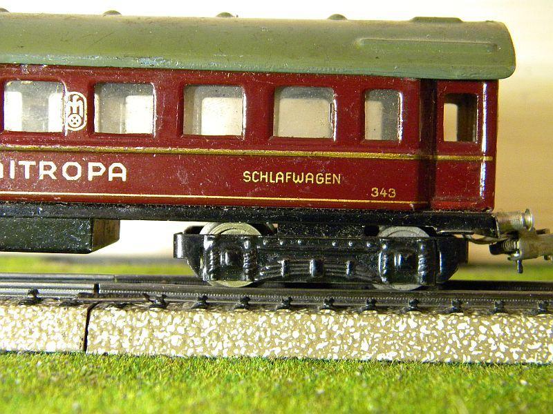 """Schlafwagen """"MITROPA"""", weinrot; Märklin-Nummer 343-3 (1937) 10725807qj"""
