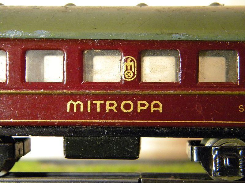 """Schlafwagen """"MITROPA"""", weinrot; Märklin-Nummer 343-3 (1937) 10725809cn"""