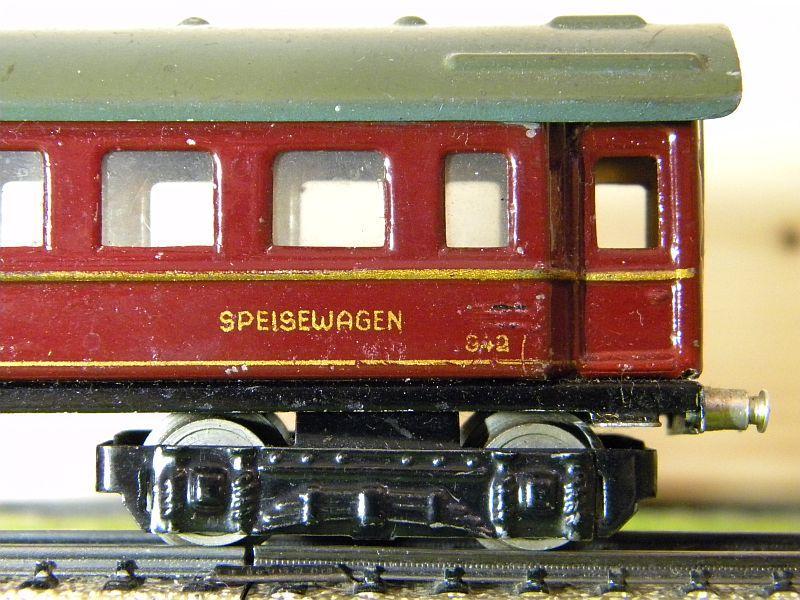 """Speisewagen """"MITROPA"""", weinrot; Märklin-Nummer 342-3 (1937) 10737549ee"""