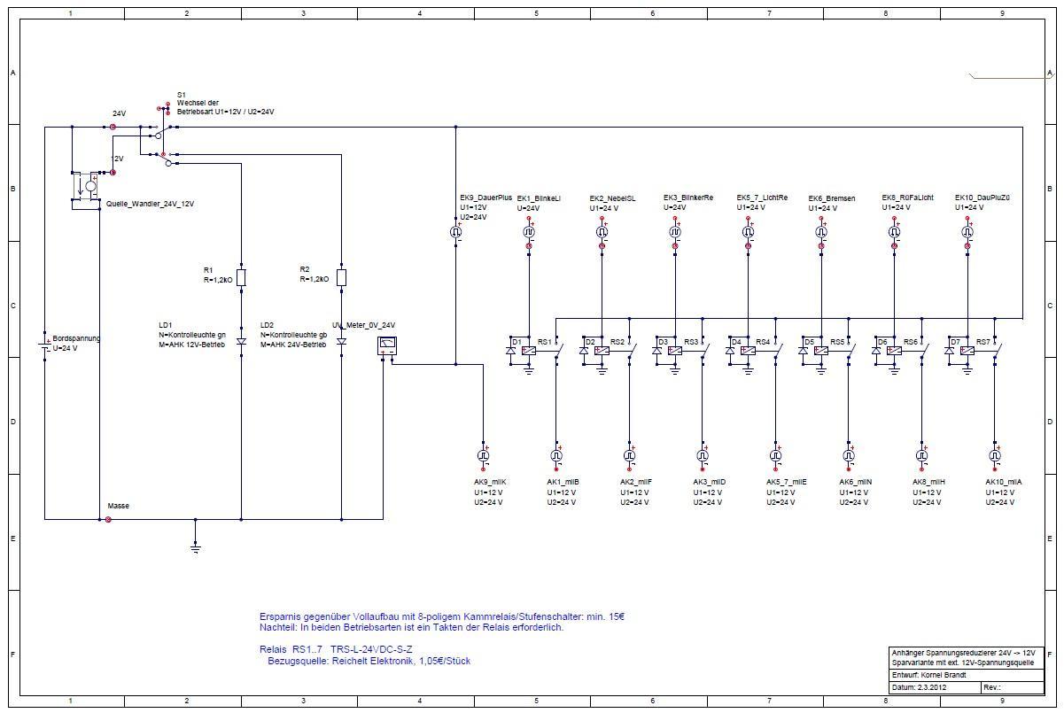 Re: Spannungswandler 24V Natosteckdose (für Anhänger) /12V 13Pol