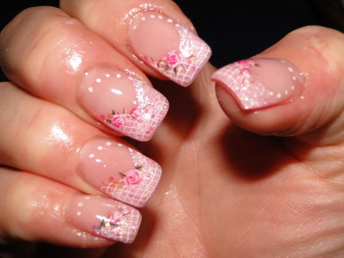 k nstliche fingern gel mit rosa weiss nageldesign pictures to pin on pinterest. Black Bedroom Furniture Sets. Home Design Ideas