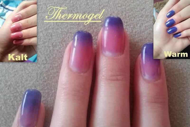 Den blauen Fleck der Nägel zu heilen