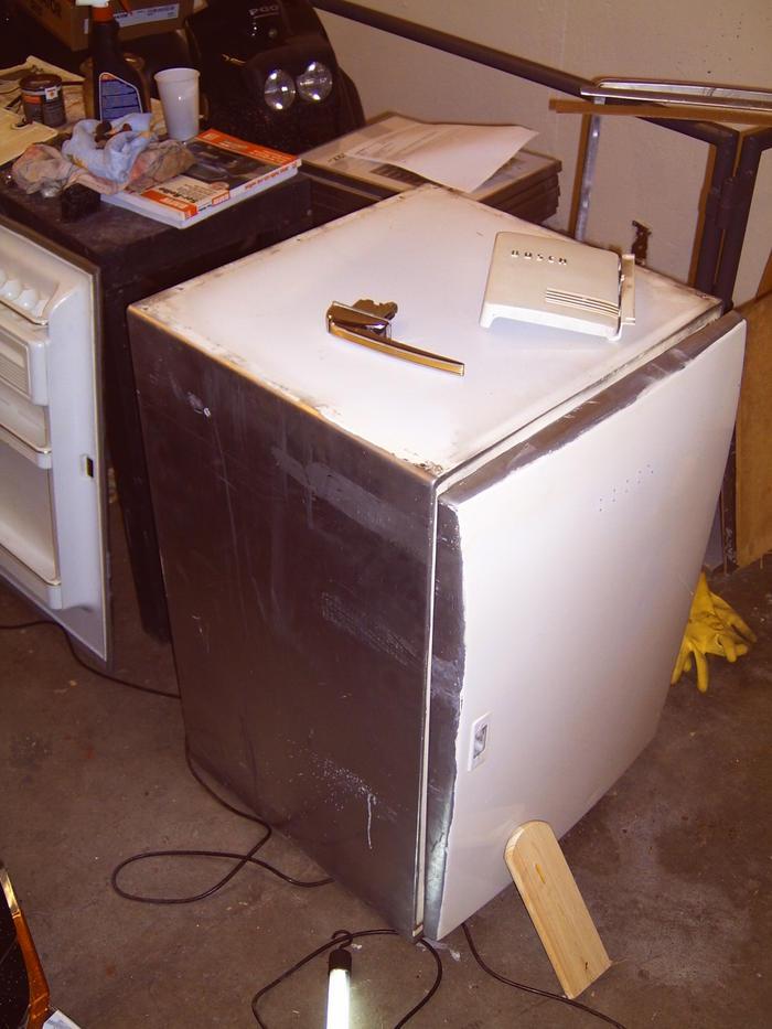 50er Jahre Kühlschrank restaurieren  Stammtisch  Off Topic