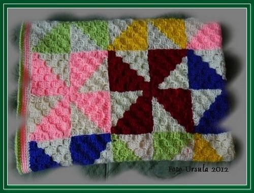 Bunte Decke Im Diagonalstitch Junghans Wolle Handarbeitsforum