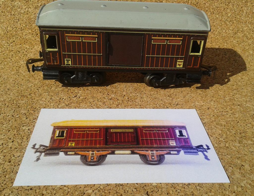 Distler Gepäckwagen Spur 0 , 4 Achsen 11690118pc