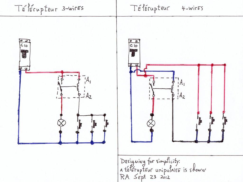 Pont Noir • Wiring of télérupteurs