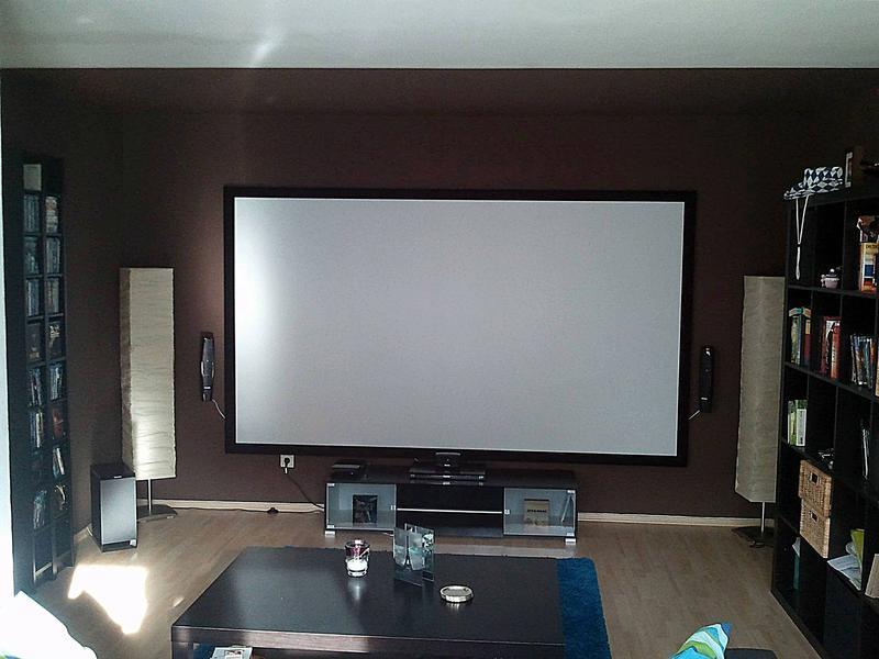 mon salon cinema avec epson 9200w update avant. Black Bedroom Furniture Sets. Home Design Ideas