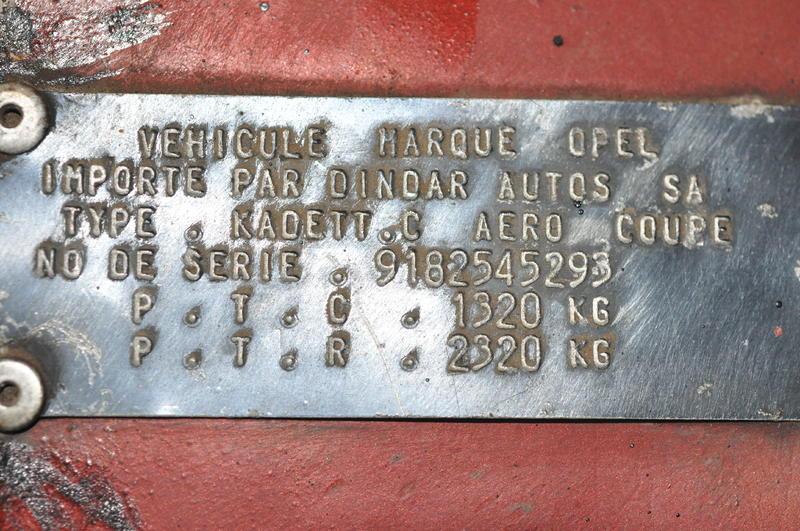 opel kadett c aero 12506903wj
