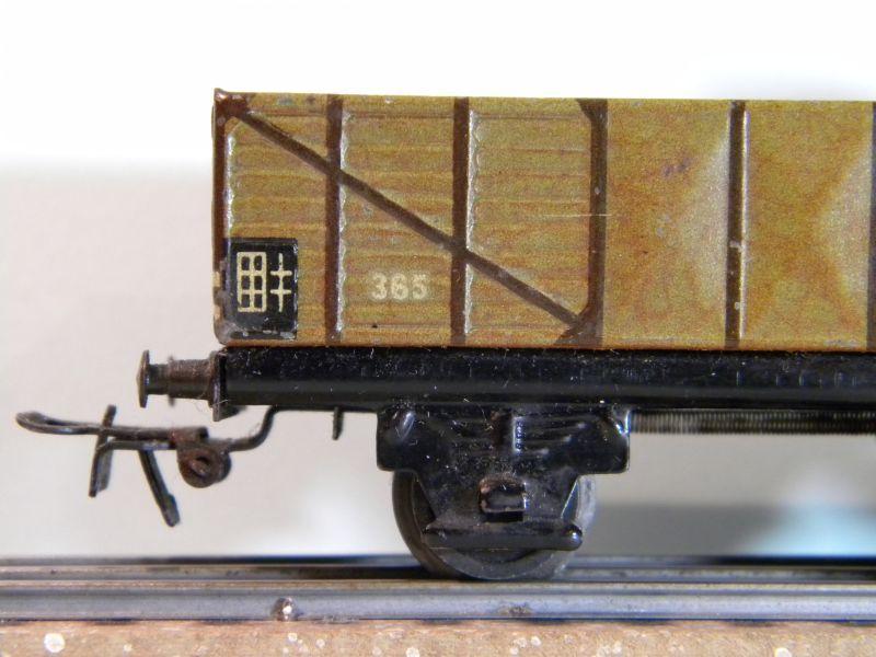 Märklin 371 Offener Güterwagen mit Bremserhaus 12527438sd