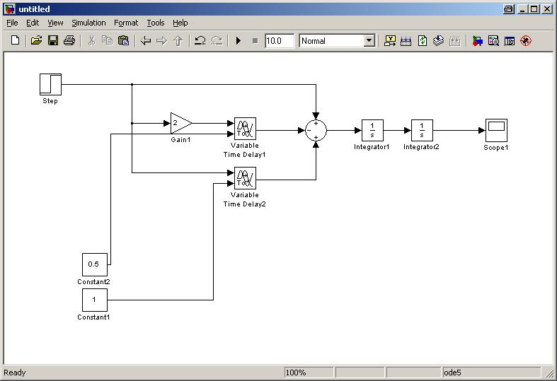 transfer function in simulink different from matlab - matlab answers