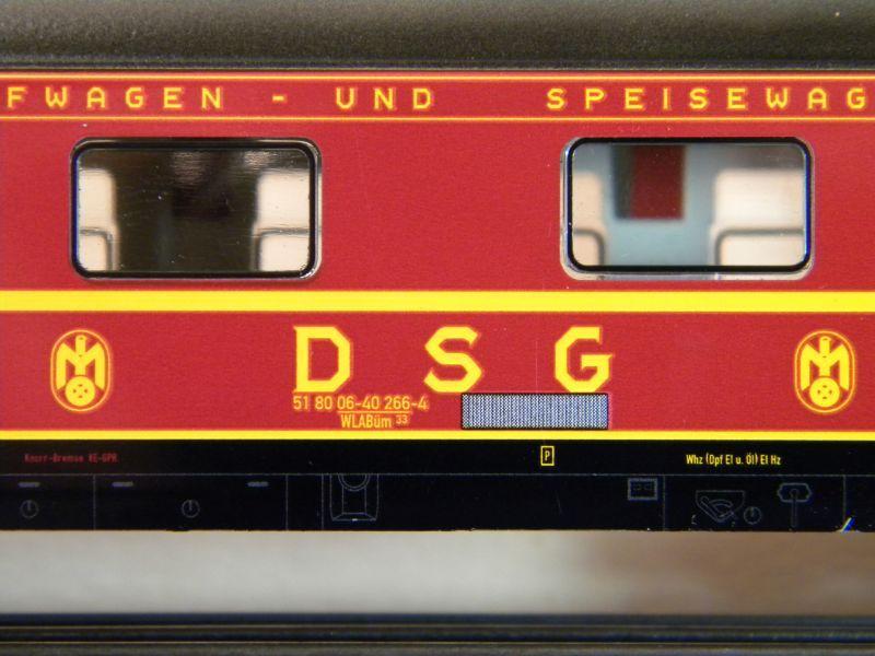 Märklin 0766-4 Schlafwagen DSG rot 12599398hl