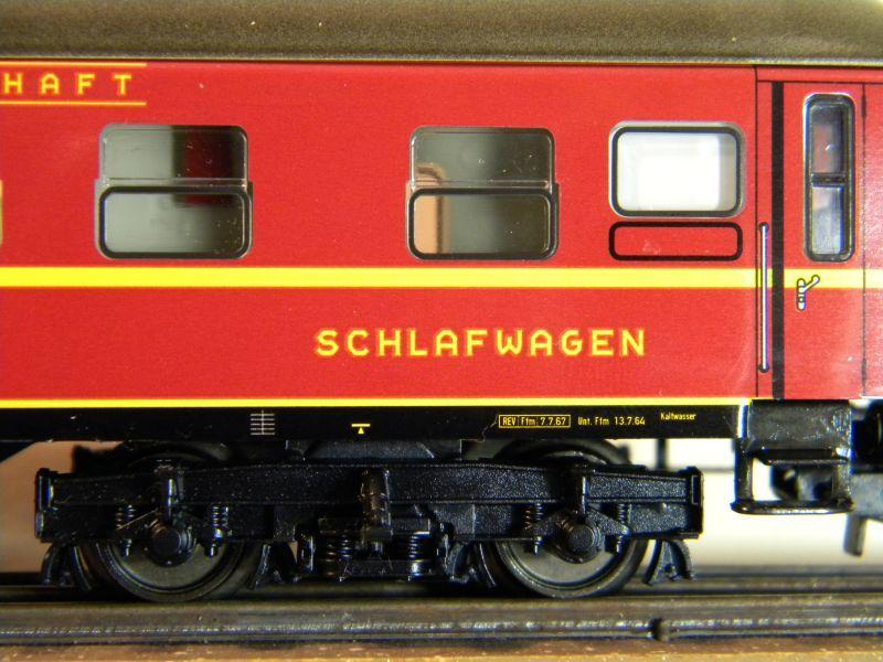 Märklin 0766-4 Schlafwagen DSG rot 12599401tz