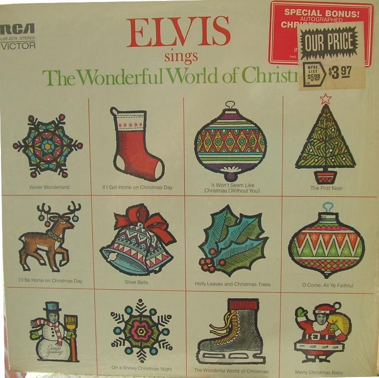 ELVIS SINGS THE WONDERFUL WORLD OF CHRISTMAS 12818340bh