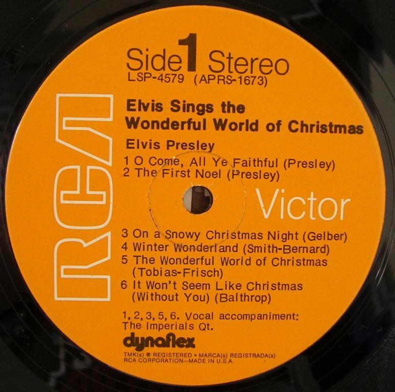 ELVIS SINGS THE WONDERFUL WORLD OF CHRISTMAS 12818343al