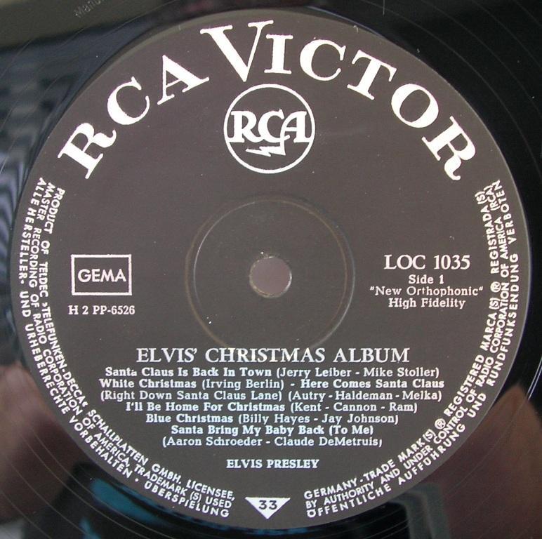 ELVIS' CHRISTMAS ALBUM (1958) 12818519rt