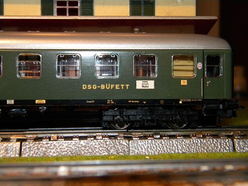 Märklin 0766-1 Buffetwagen DSG, grün 12823104fv