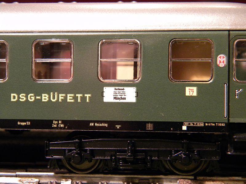 Märklin 0766-1 Buffetwagen DSG, grün 12823108dj