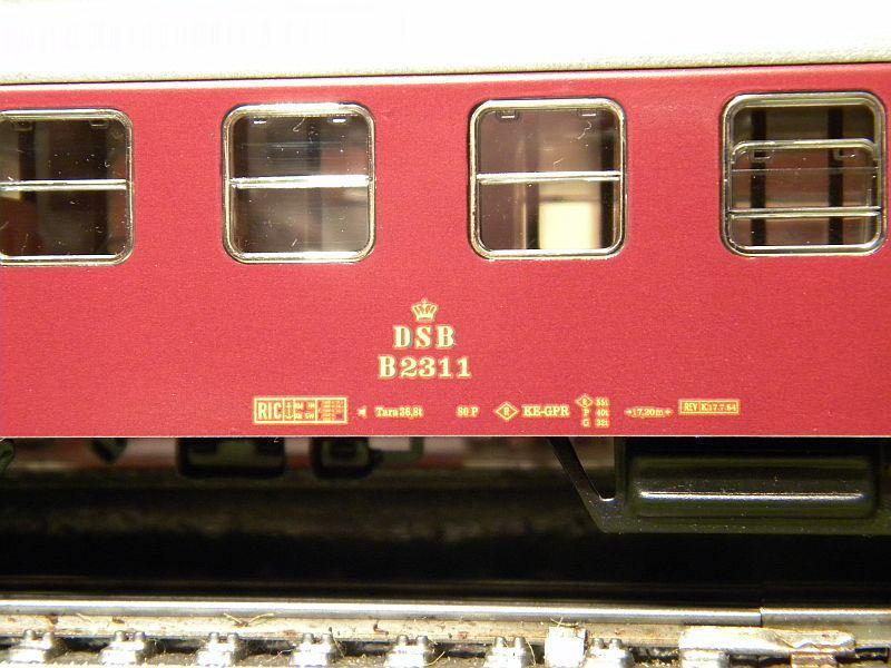 Märklin 0766-7 D-Zugwagen DSB, rot 12823198qn