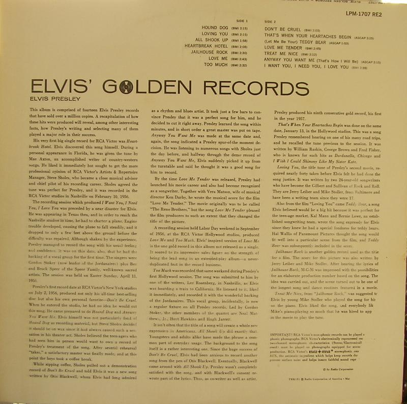ELVIS' GOLD RECORDS  12918414rg