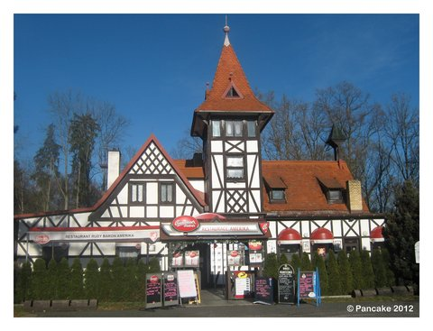 Restaurant Amerika am gleichnamigen Teich Amerika (Franzensbad)