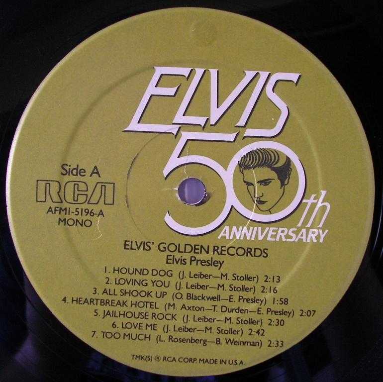 ELVIS' GOLD RECORDS  12992674du