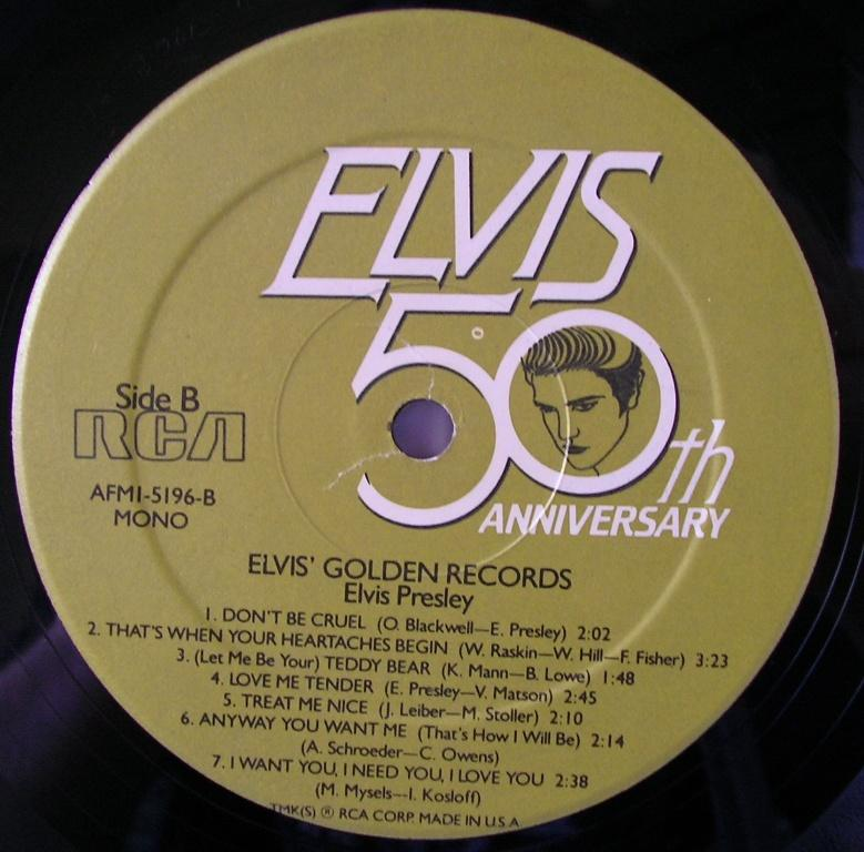 ELVIS' GOLD RECORDS  12992675vz