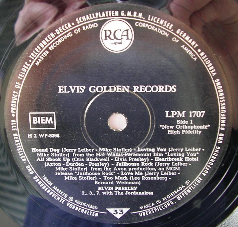 ELVIS' GOLDEN RECORDS 12992882ih