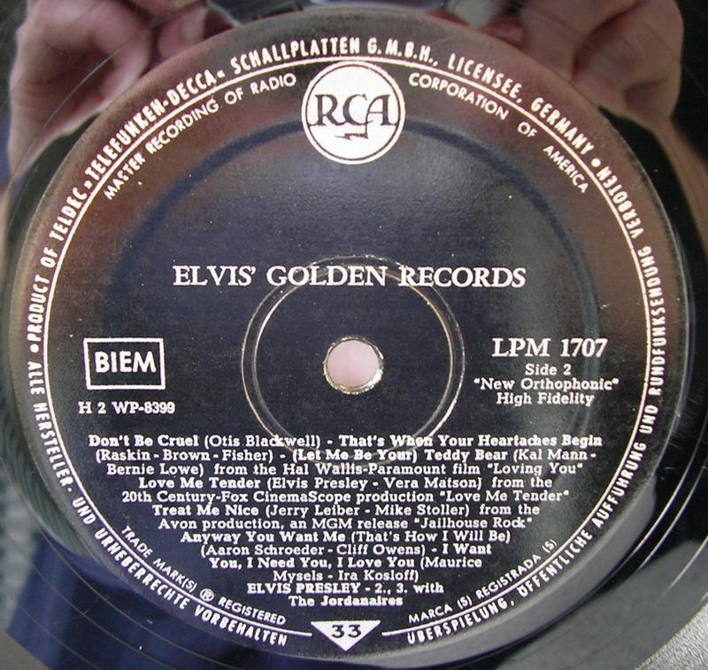 ELVIS' GOLDEN RECORDS 12992883hp