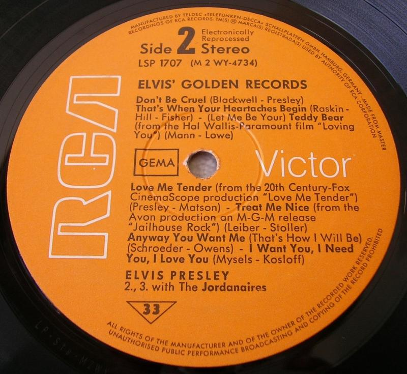ELVIS' GOLDEN RECORDS 12993050cy