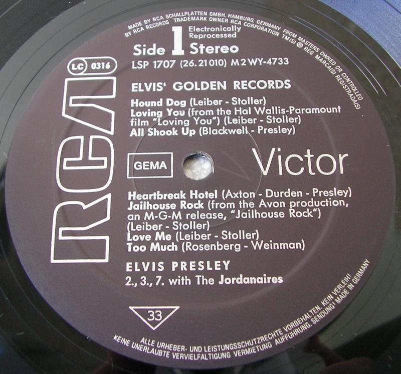 ELVIS' GOLDEN RECORDS 12993092su