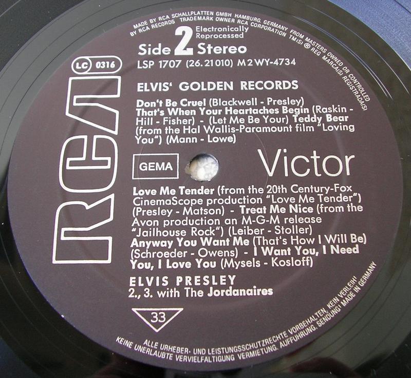 ELVIS' GOLDEN RECORDS 12993093mm